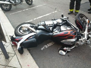 Motorcycle Knocked Over